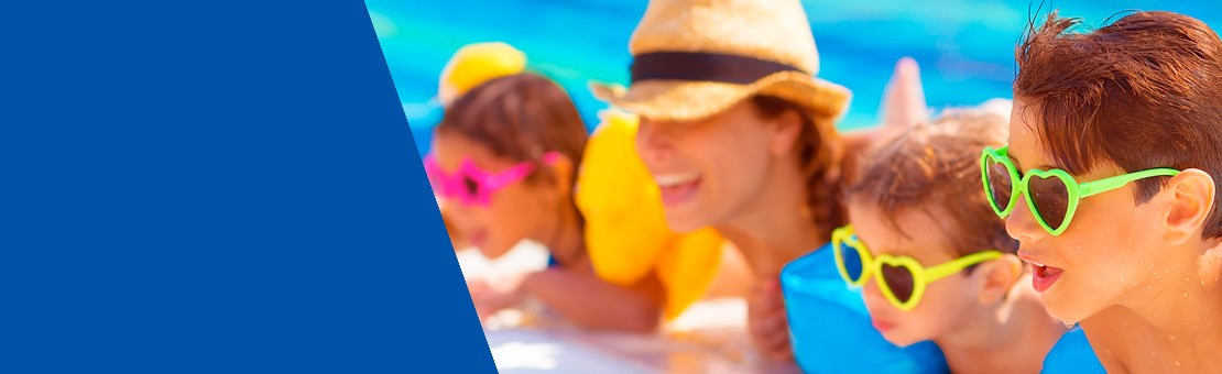 Troppo caldo? Prova a fare un tuffo nel blu delle nostre piscine!
